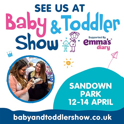 Visit us at The Baby & Toddler Show, Sandown Park